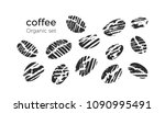 vector set of natural coffee... | Shutterstock .eps vector #1090995491