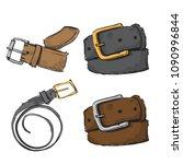 watercolor accessory. belt.... | Shutterstock .eps vector #1090996844
