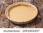 homemade dough for cake quiche  ... | Shutterstock . vector #1091003357
