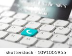 credit card payment for online... | Shutterstock . vector #1091005955