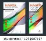business brochure cover or... | Shutterstock .eps vector #1091007917