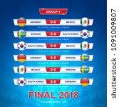 soccer 2018 championship... | Shutterstock .eps vector #1091009807