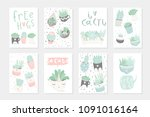set of 8 cute ready to use gift ... | Shutterstock .eps vector #1091016164