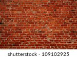 Background Of Red Brick Wall...