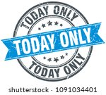 today only round grunge ribbon... | Shutterstock .eps vector #1091034401
