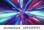 interstellar travel through a... | Shutterstock . vector #1091039591
