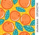 vector vintage seamless pattern ... | Shutterstock .eps vector #1091042744