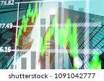 double exposure business... | Shutterstock . vector #1091042777