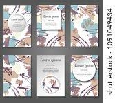 minimal vector covers set....   Shutterstock .eps vector #1091049434