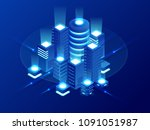 isometric web hosting  data... | Shutterstock .eps vector #1091051987
