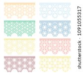 set of colorful seamless... | Shutterstock .eps vector #1091055317