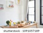 cooking  culinary vegetables... | Shutterstock . vector #1091057189