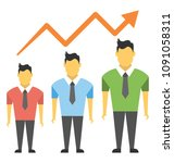 a success arrow and people...   Shutterstock .eps vector #1091058311