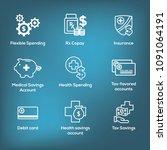 medical tax savings w health... | Shutterstock .eps vector #1091064191