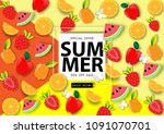 summer sale background vector | Shutterstock .eps vector #1091070701
