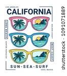 california vector illustration  ... | Shutterstock .eps vector #1091071889