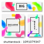 best  big sale  exclusive offer ... | Shutterstock .eps vector #1091079347