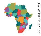 political map of africa .vector   Shutterstock .eps vector #1091081399