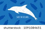 save the oceans vector... | Shutterstock .eps vector #1091084651