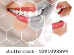 picture of woman's smile... | Shutterstock . vector #1091093894