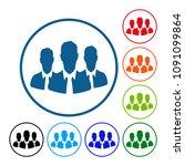 business command avatar....   Shutterstock .eps vector #1091099864