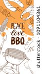bbq and grill banners with... | Shutterstock .eps vector #1091104361