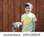 portrait cute little boy...   Shutterstock . vector #1091108249