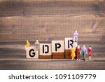 gdpr. general data protection... | Shutterstock . vector #1091109779