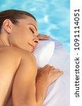 middle aged woman asleep... | Shutterstock . vector #1091114051