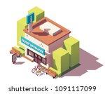 vector isometric tourist... | Shutterstock .eps vector #1091117099