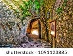 ancient city street scene view. ... | Shutterstock . vector #1091123885