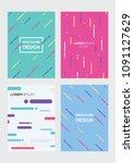 brochure design vector... | Shutterstock .eps vector #1091127629
