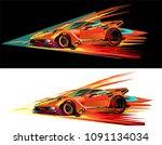 Red Sports Car Racing Fairies...