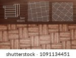 laminate square with inserts | Shutterstock .eps vector #1091134451