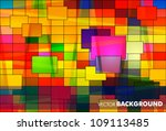 colorful brick wall with...