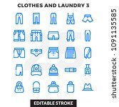 dashed outline icons pack for... | Shutterstock .eps vector #1091135585