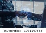 business and technology concept. | Shutterstock . vector #1091147555