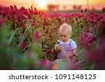 beautiful toddler boy in... | Shutterstock . vector #1091148125