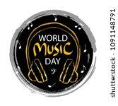 world music day   Shutterstock .eps vector #1091148791