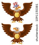 american eagle with a dollar on ... | Shutterstock .eps vector #1091150381