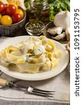 Small photo of Pappardelle Pasta with Creamy Alfredo Sauce