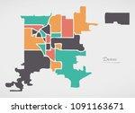 denver colorado map with... | Shutterstock .eps vector #1091163671