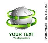 creative abstract 3d sphere... | Shutterstock .eps vector #1091167451