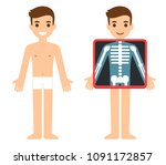 cartoon male character getting... | Shutterstock .eps vector #1091172857