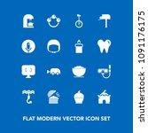 modern  simple vector icon set...   Shutterstock .eps vector #1091176175