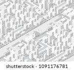 3d map of city on white design... | Shutterstock .eps vector #1091176781
