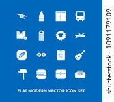 modern  simple vector icon set... | Shutterstock .eps vector #1091179109