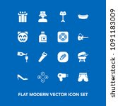 modern  simple vector icon set... | Shutterstock .eps vector #1091183009