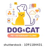veterinary clinic color concept ... | Shutterstock .eps vector #1091184431