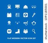 modern  simple vector icon set... | Shutterstock .eps vector #1091185001